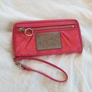 badd8be6ce Women s Coach Poppy Pink Wristlet Wallet on Poshmark